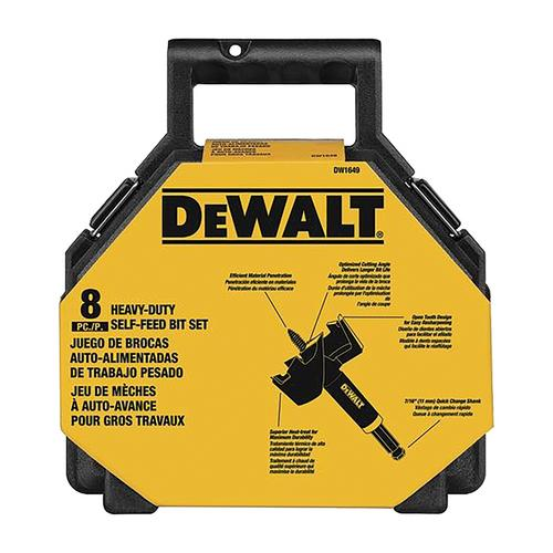 "DeWalt 8-Piece 7/16"" Shank Self-Feed Bit Kit"