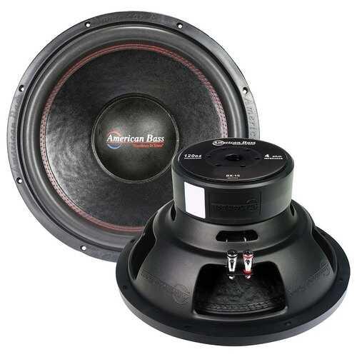 "American Bass 15"" woofer 1000 watts max 4 Ohm SVC"