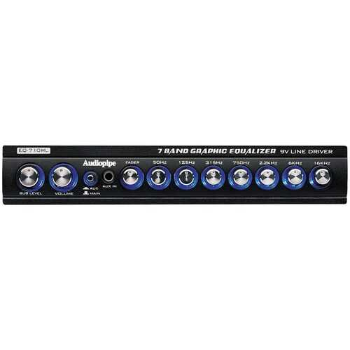 Audiopipe 7 Band Graphic Equalizer with HI/LO Converter  (9V Line Driver)