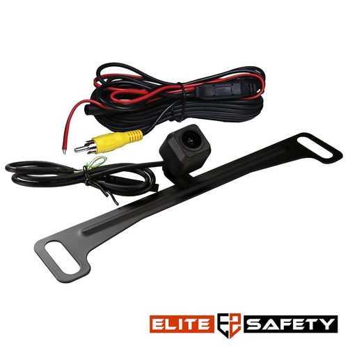 Elite Safety License Plate Camera Black
