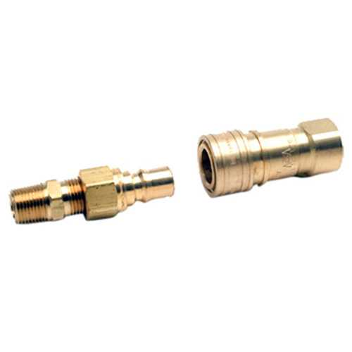 Mr Heater Propane or Natural Gas 3/8 Inch Quick Connector Full Flow Male Plug