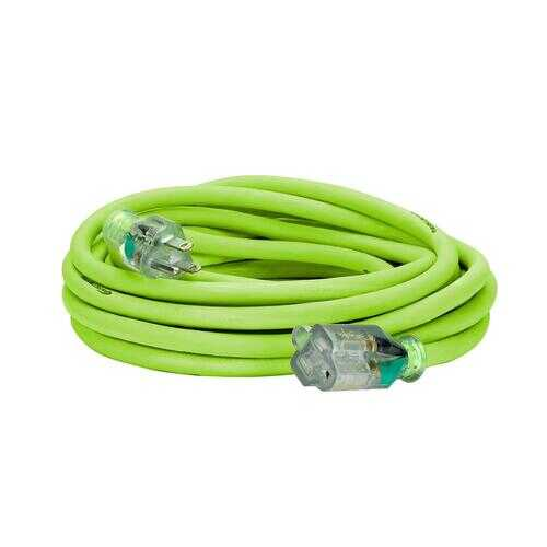 Flexzilla Pro Extension Cord 12/3 AWG SJTW 25ft Outdoor Lighted Plug