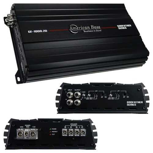 American Bass 2CH Amplifier 1240 Watts RMS