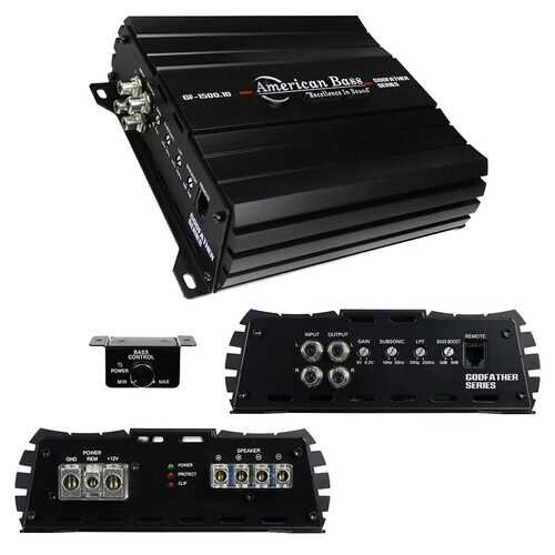 American Bass Godfather 1CH Amplifier 1508 Watts RMS