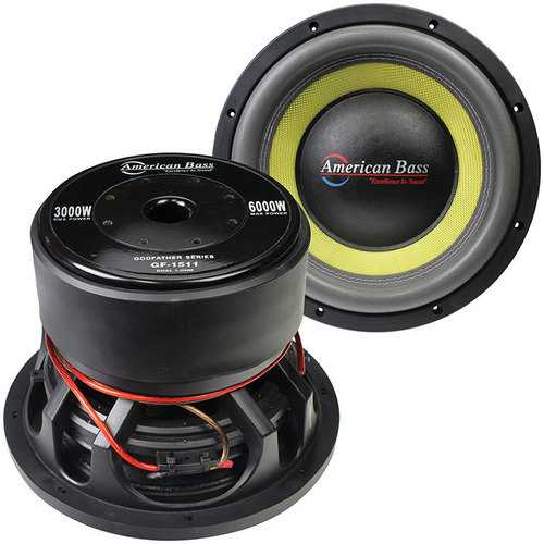 """American Bass Godfather 15"""" 400 oz Magnet 4"""" Voice Coil Dual 1 ohm"""