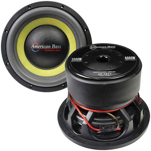"American Bass Godfather 18"" 400 oz Magnet 4"" Voice Coil Dual 1 ohm"