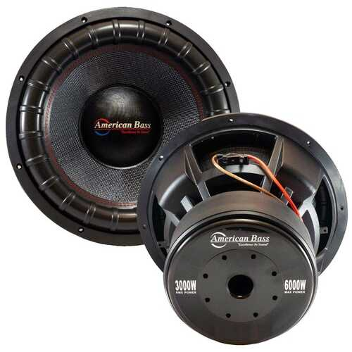 "American Bass 18"" 400 oz Magnet 4"" Voice Coil Dual 2 ohm"