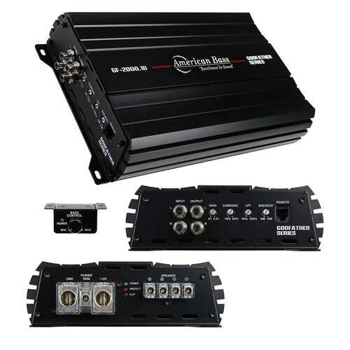 American Bass Godfather 1CH Amplifier 2340 Watts RMS
