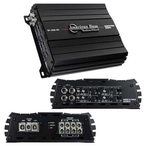 American Bass Godfather 4CH Amplifier 720 Watts RMS