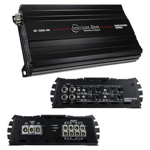 American Bass Godfather 4CH Amplifier 1440 Watts RMS