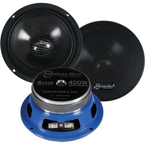 "American Bass 6.5"" Midrange Speakers 400W MAX 4 Ohm (pair)"