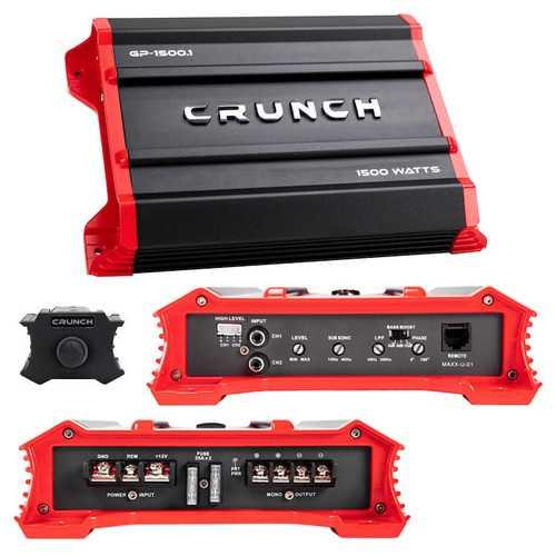 Crunch Ground Pounder 1 x 750 @ 4 Ohms 1 x 7500 @ 2 Ohms N/A @ 1 Ohms Class A/B