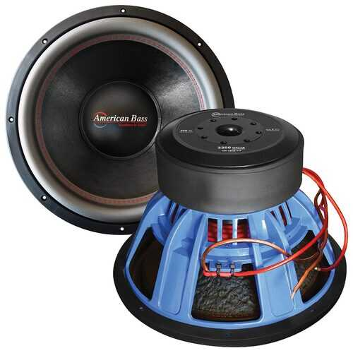 """American Bass 15"""" Woofer 2200w RMS / 4000 watts max 2 Ohm DVC"""