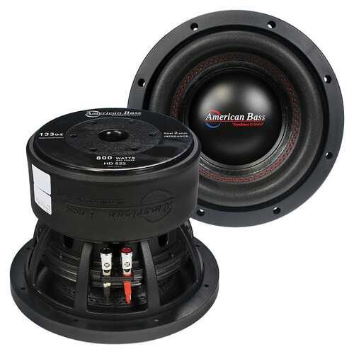 American Bass 8 Woofer 400W RMS/800W Max Dual 2 Ohm Voice Coils