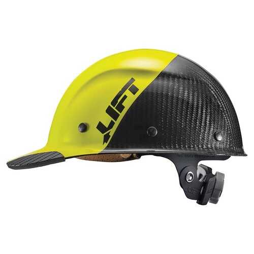 Lift Safety DAX Carbon Fiber Cap Brim 50-50 Yellow/Black