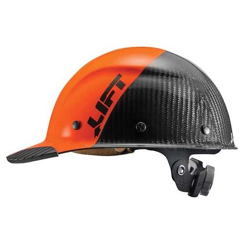 Lift Safety DAX Carbon Fiber Cap Brim 50-50 Orange/Black