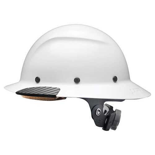 Lift Safety DAX Fiber Resin Full Brim Gloss White