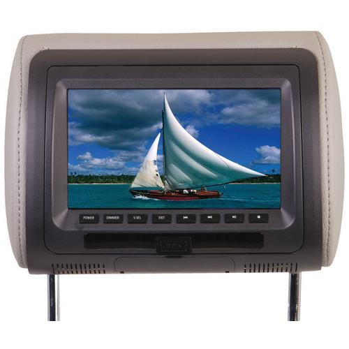 """Power Acoustik 7"""" Headrest Monitor 3-Color Skins LCD/DVD USB/SD SOLD EACH"""