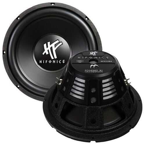 """Hifonics 12"""" Woofer 4 ohm DVC Black Basket"""
