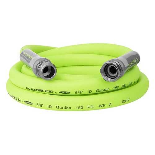 "Flexzilla SwivelGrip Garden Lead-in Hose 5/8"" x 10' 3/4"" - 11 1/2 GHT Fittings 6-Piece Merch&iser"