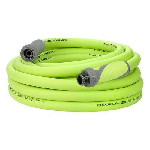 Flexzilla SwivelGrip Garden Hose 5/8in x 50ft 3/4in   11 1/2 GHT Fittings