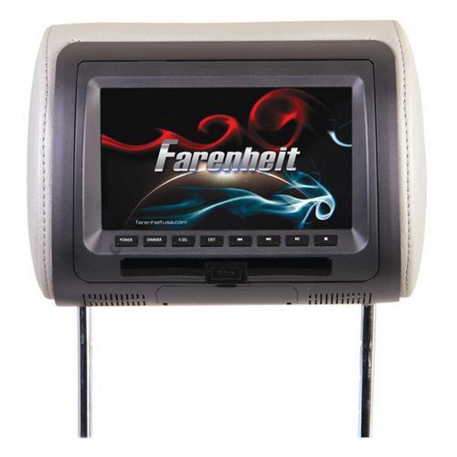 """Farenheit Replacement Headrest 7"""" LCD"""