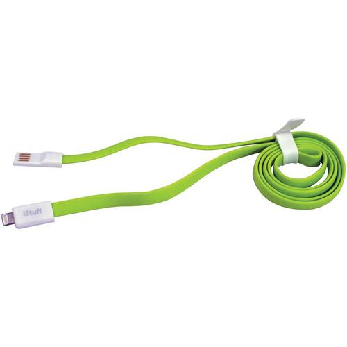 iStuff Lightning to USB Cable Audio/Video/Telephone Green