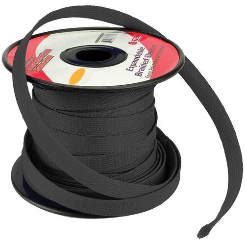 """Installation Solution Expandable Braided Sleeve Black 3/8"""""""