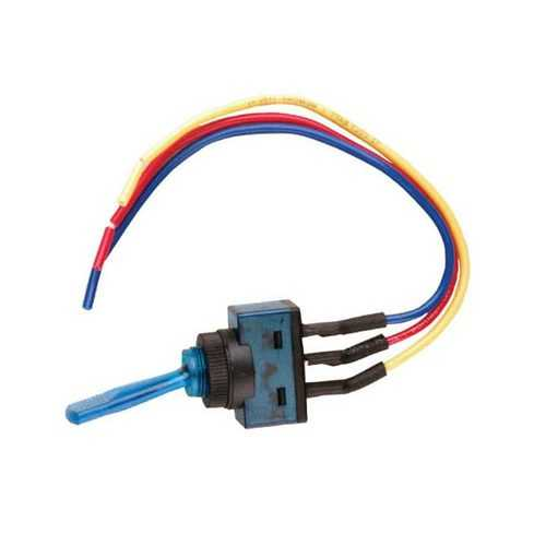 """Nippon illuminated toggle switch with 6"""" lead wire blue"""