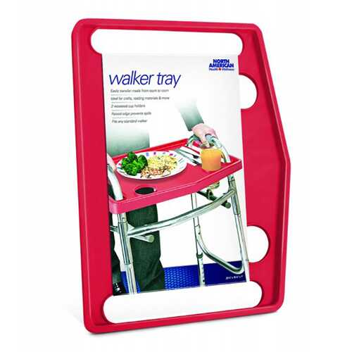North American Healthcare Walker Tray - Red