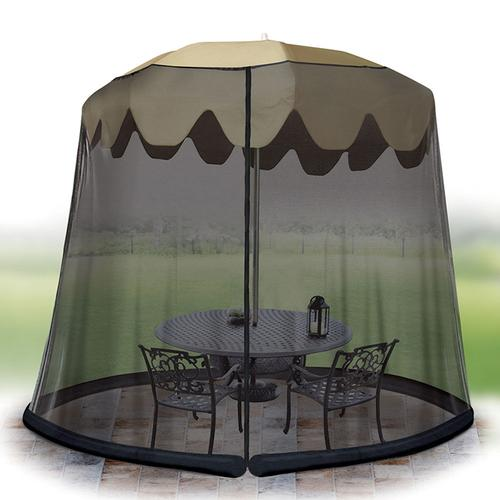 Ideaworks Outdoor 7.5 Foot Umbrella Table Screen Black