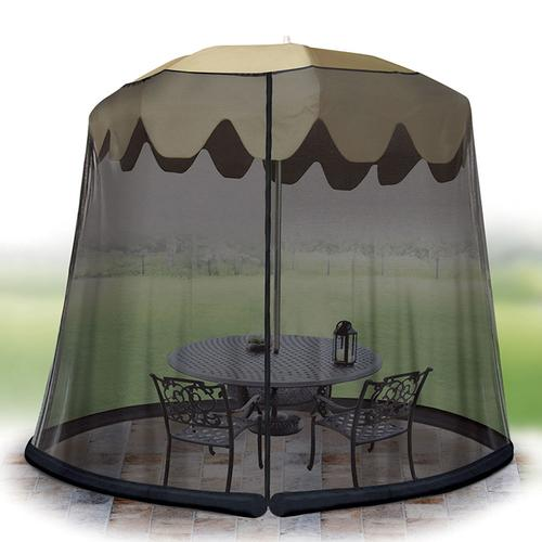 Ideaworks Outdoor 11 Foot Umbrella Table Screen Black