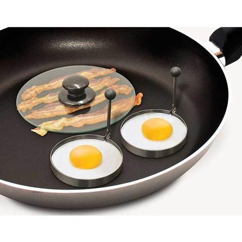 Handy Gourmet Bacon Press & Egg Rings Making Breakfast Easy