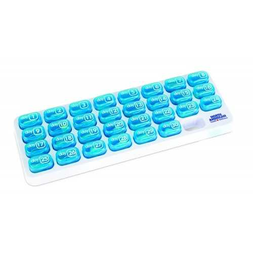North American Healthcare Easy Open 31 Day Pop-Out Compartment Pill Organizer