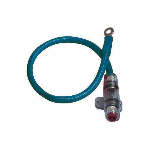 """POWER KIT 4GA. BLUE 60A AGU W/18"""" WIRE;RING TERMINAL"""