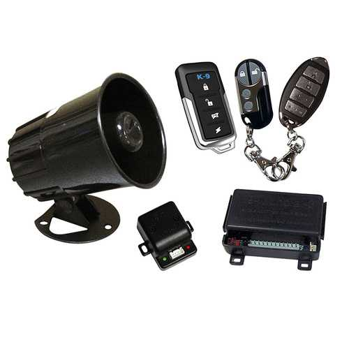 K-9 Car Alarm with Keyless Entry - Includes 3 Different Transmitter Designs!