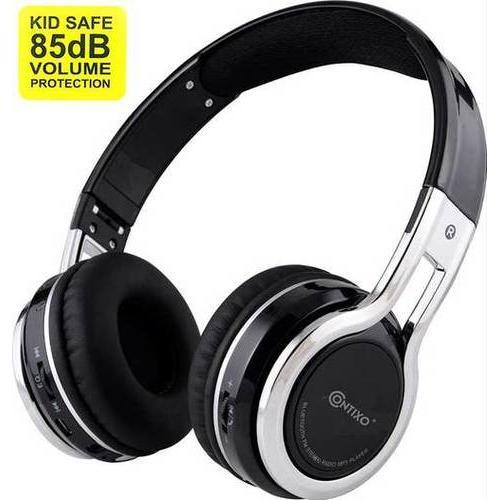 Contixo Kids Headphone 85DB Over Ear Foldable Wireless Bluetooth MicroPhone SDCard Music FMRadio Bla