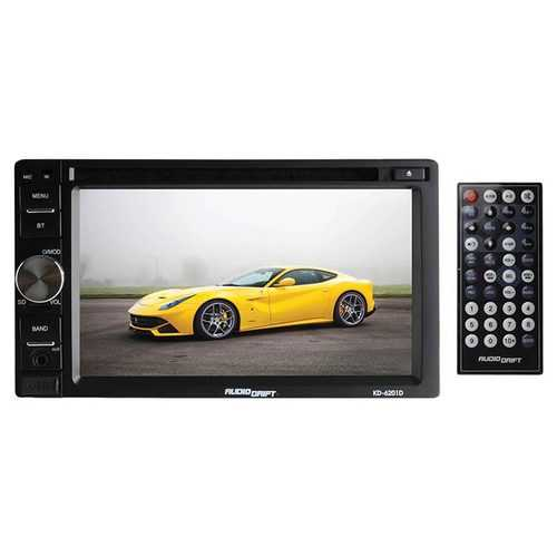 "Audiodrift 6.2"" Indash DVD/CD/MP4 Player with USB/SD/MMC/AM/FM and remote"
