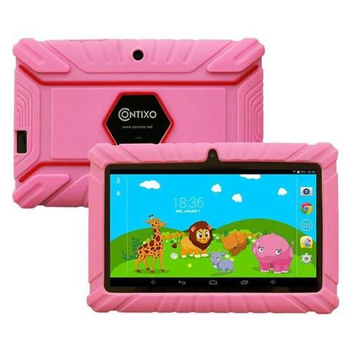 Contixo LA703 7 Inch 8 GB Tablet with Kids Place Parental Control Kid Proof Case Pink