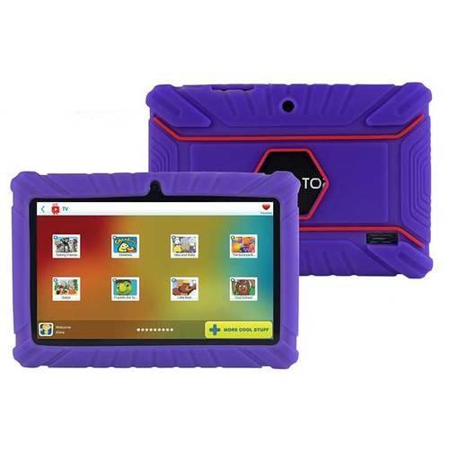 Contixo LA703 7 Inch 8 GB Tablet with Kids Place Parental Control Kid Proof Case Purple