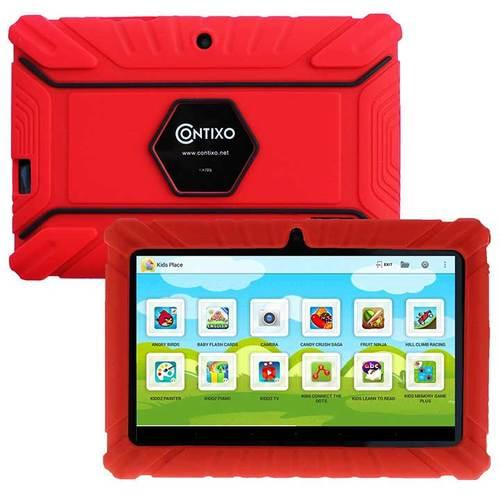 Contixo LA703 7 Inch 8 GB Tablet with Kids Place Parental Control Kid Proof Case Red