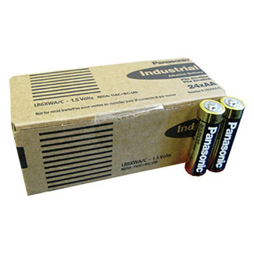 "Panasonic Alkaline ""AA"" Cell 24 piece box of batteries"