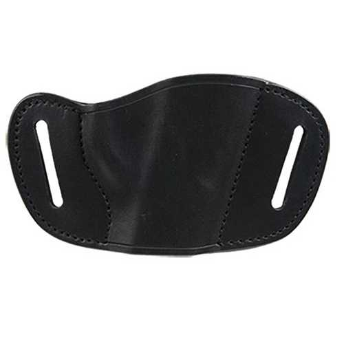 Bulldog Large right hand black molded leather belt slide holster fits large fram autos