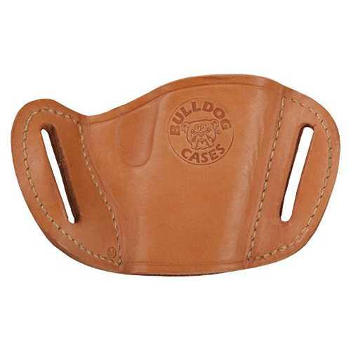 Bulldog Medium  right hand tan molded leather belt slide holster