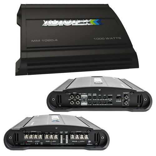 Autotek Mean Machine Amplifier 1000 Watts 4 Channel