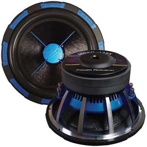 """Power Acoustik 10"""" Woofer 2400 W dual 2 Ohm 2.5"""" Voice coils 270oz magnet weight"""
