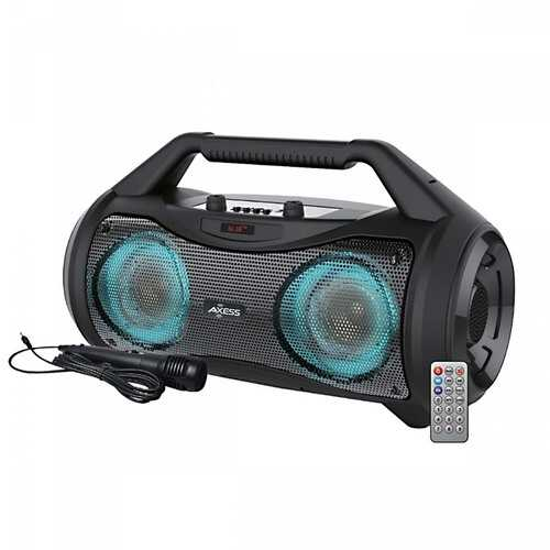 """Axess Portable Bluetooth Dual 3"""" Speakers & 5.25"""" Woofer with Mic"""