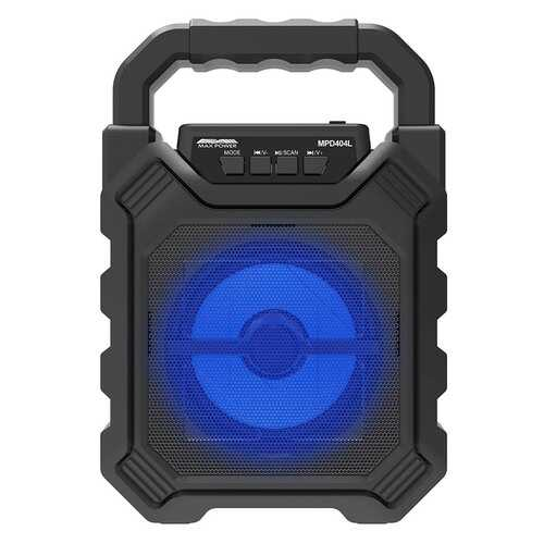 """Max Power Rechargeable 4"""" Portable Bluetooth Speaker - Black Grill"""