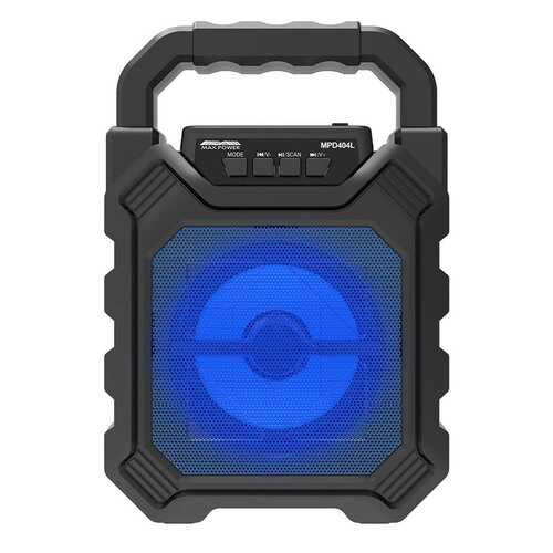 """Max Power Rechargeable 4"""" Portable Bluetooth Speaker - Blue Grill"""
