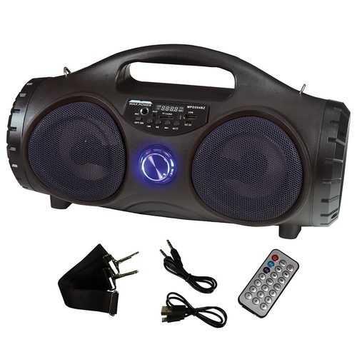 "Maxpower 5"" Portable Speaker Black Front flashing light Battery belt included"